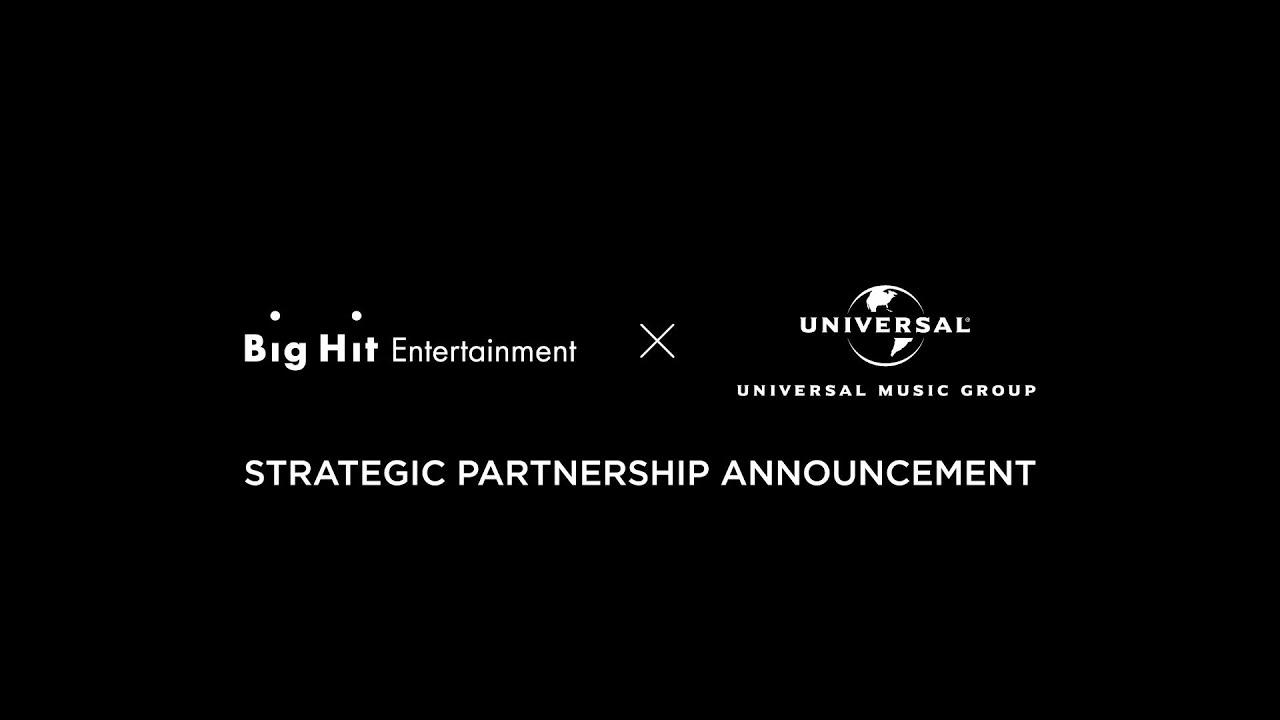33299 Big Hit Entertainment x Universal Music Group   Strategic Partnership Announcement